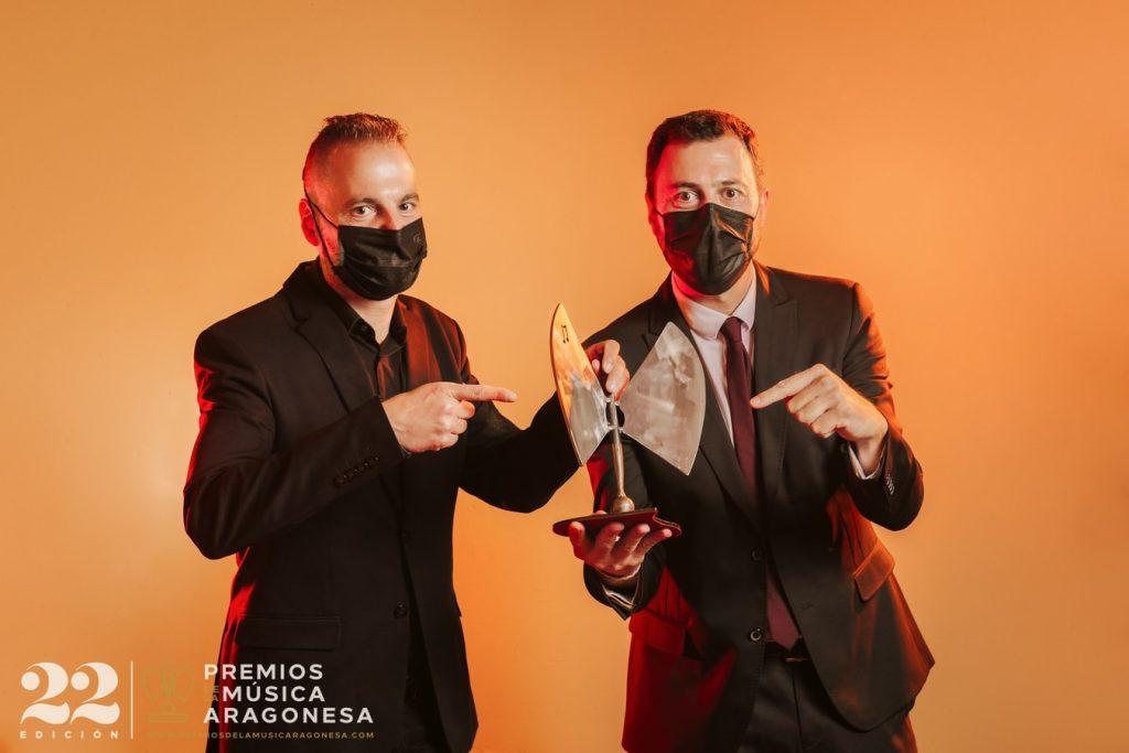 Sergio Falces y David Chapín. 22º Premios de la Música Aragonesa. Foto, Jal Lux