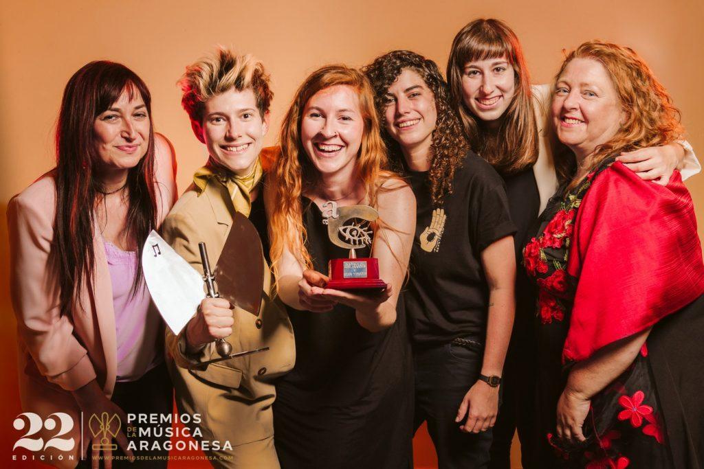 Lady Banana por Ana Escario y Adela Moreno. 22º Premios de la Música Aragonesa. Foto, Jal Lux