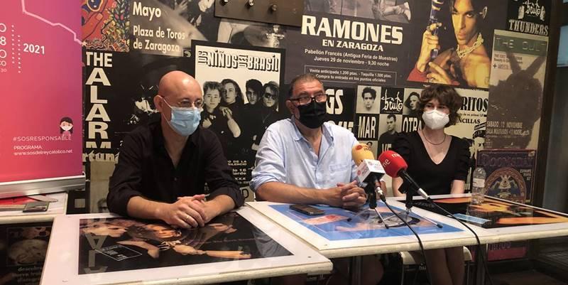 Durante la presentación del Sos en Vivo Festival. Foto de Aragón Musical.