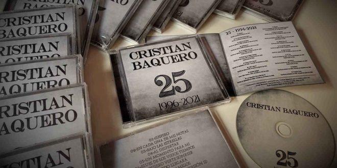 Portada del disco '25 (1996-2021)' de Cristian Baquero