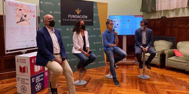 Durante la presentación del 2º Festival Saulus de música vocal de Zaragoza