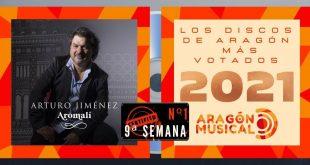 Arturo Jiménez es número 1 de la lista de discos aragoneses más votados de 2021 en Aragón Musical
